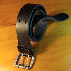 Accessories - Vintage 70s Double Prong Leather Belt